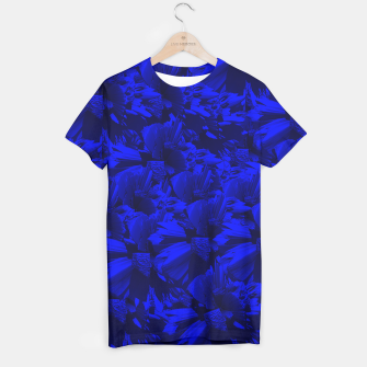 A202 Rich Blue and Black Abstract Design T-shirt thumbnail image
