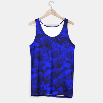 A202 Rich Blue and Black Abstract Design Tank Top thumbnail image