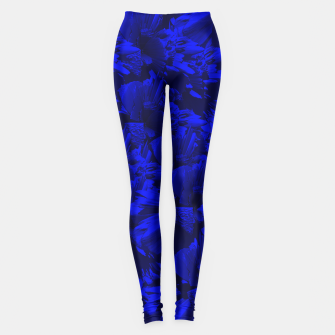 A202 Rich Blue and Black Abstract Design Leggings thumbnail image