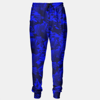 A202 Rich Blue and Black Abstract Design Sweatpants thumbnail image