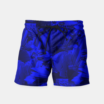 A202 Rich Blue and Black Abstract Design Swim Shorts thumbnail image
