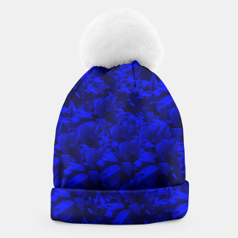 A202 Rich Blue and Black Abstract Design Beanie thumbnail image