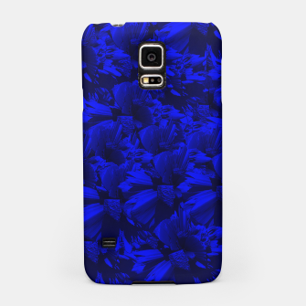 A202 Rich Blue and Black Abstract Design Samsung Case thumbnail image