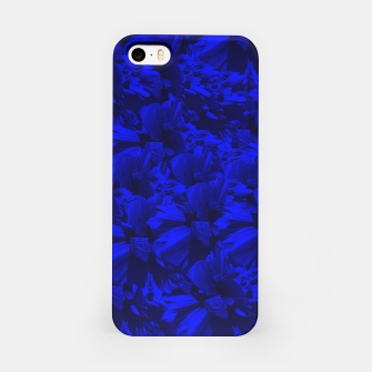 A202 Rich Blue and Black Abstract Design iPhone Case thumbnail image