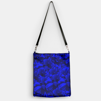 A202 Rich Blue and Black Abstract Design Handbag thumbnail image