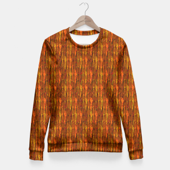 Scales of Fall Colors Abstract Fitted Waist Sweater thumbnail image