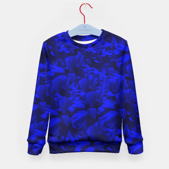A202 Rich Blue and Black Abstract Design Kid's Sweater thumbnail image