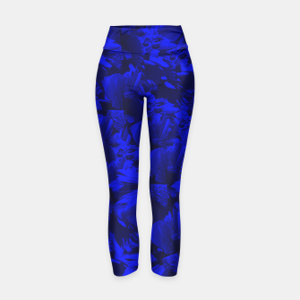 A202 Rich Blue and Black Abstract Design Yoga Pants thumbnail image
