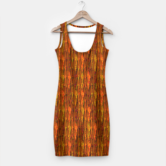 Scales of Fall Colors Abstract Simple Dress thumbnail image