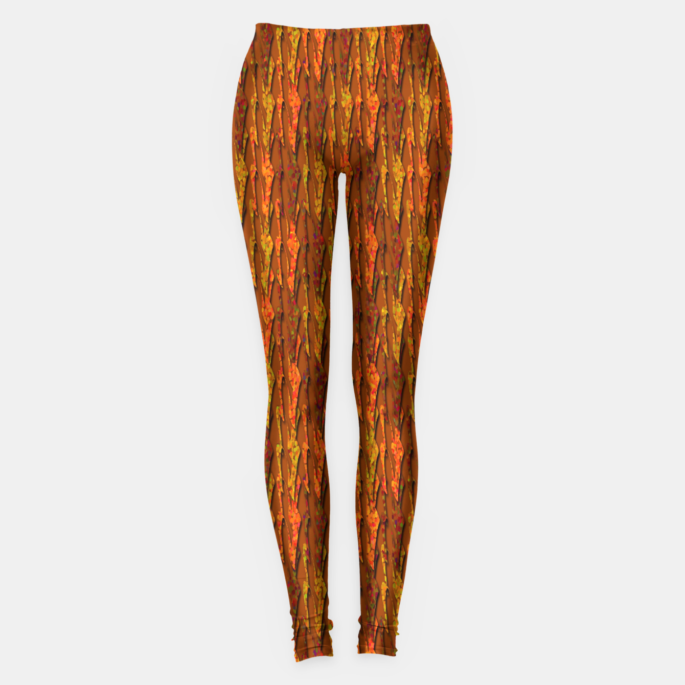 Image of Scales of Fall Colors Abstract Leggings - Live Heroes