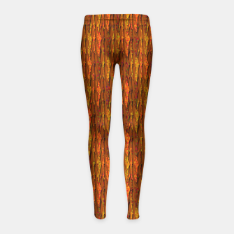 Scales of Fall Colors Abstract Girl's Leggings thumbnail image
