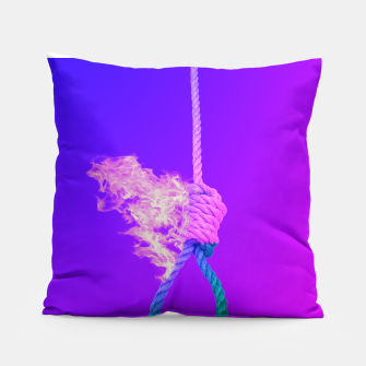 Thumbnail image of Noose on Fire Pillow, Live Heroes