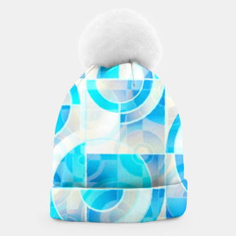 Thumbnail image of Blue Turquoise Abstract Geometric Painting  Beanie, Live Heroes