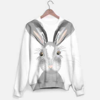 Thumbnail image of Sweet Whimsy Grey Hare Sweater, Live Heroes