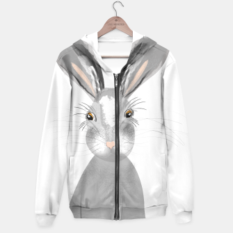 Thumbnail image of Sweet Whimsy Grey Hare Hoodie, Live Heroes