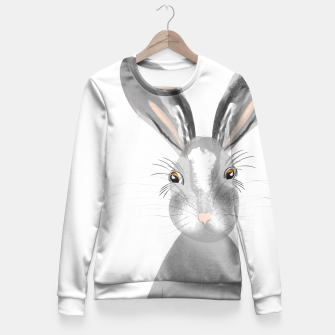 Thumbnail image of Sweet Whimsy Grey Hare Fitted Waist Sweater, Live Heroes