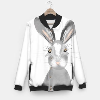 Thumbnail image of Sweet Whimsy Grey Hare Baseball Jacket, Live Heroes