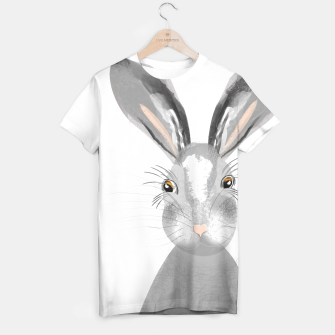 Thumbnail image of Sweet Whimsy Grey Hare T-shirt, Live Heroes