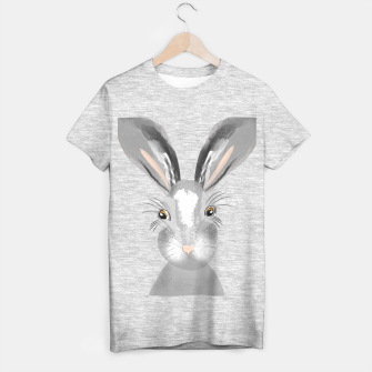 Thumbnail image of Sweet Whimsy Grey Hare T-shirt regular, Live Heroes