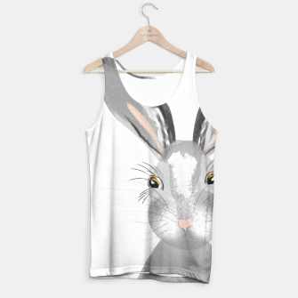 Thumbnail image of Sweet Whimsy Grey Hare Tank Top, Live Heroes