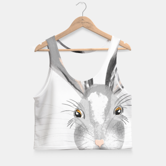 Thumbnail image of Sweet Whimsy Grey Hare Crop Top, Live Heroes