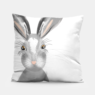 Thumbnail image of Sweet Whimsy Grey Hare Pillow, Live Heroes