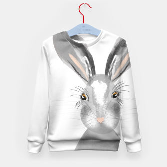 Thumbnail image of Sweet Whimsy Grey Hare Kid's Sweater, Live Heroes