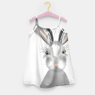 Thumbnail image of Sweet Whimsy Grey Hare Girl's Dress, Live Heroes