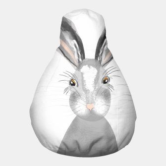 Thumbnail image of Sweet Whimsy Grey Hare Pouf, Live Heroes