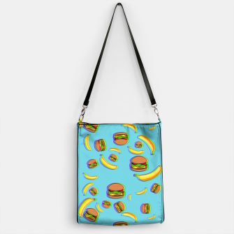 Thumbnail image of 3D Burgers and Bananas Handbag, Live Heroes