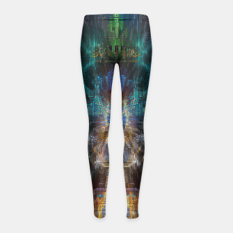 Thumbnail image of Temple Of Squares Girl's Leggings, Live Heroes