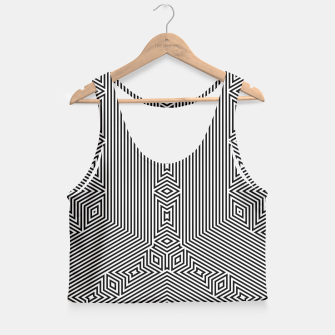 Miniatur Squares and Angles Crop Top, Live Heroes