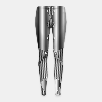 Thumbnail image of Squares and Angles Girl's Leggings, Live Heroes