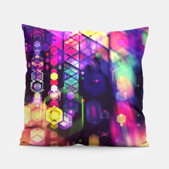 Thumbnail image of Monstrously Colorful Elementary Particles 2 Pillow, Live Heroes