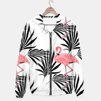 Thumbnail image of Pink Flamingos Palm Fronds Hoodie, Live Heroes