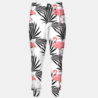Thumbnail image of Pink Flamingos Palm Fronds Sweatpants, Live Heroes