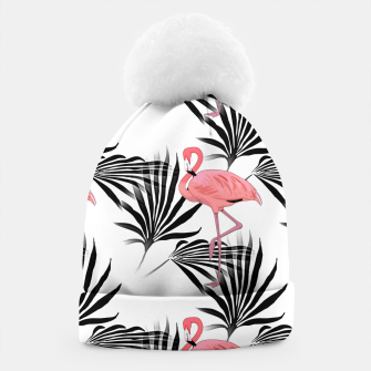 Thumbnail image of Pink Flamingos Palm Fronds Beanie, Live Heroes