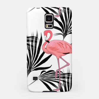 Thumbnail image of Pink Flamingos Palm Fronds Samsung Case, Live Heroes