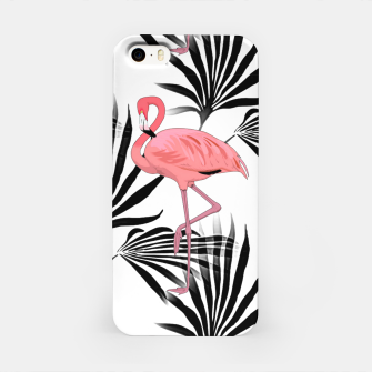 Thumbnail image of Pink Flamingos Palm Fronds iPhone Case, Live Heroes