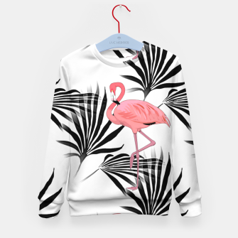 Thumbnail image of Pink Flamingos Palm Fronds Kid's Sweater, Live Heroes