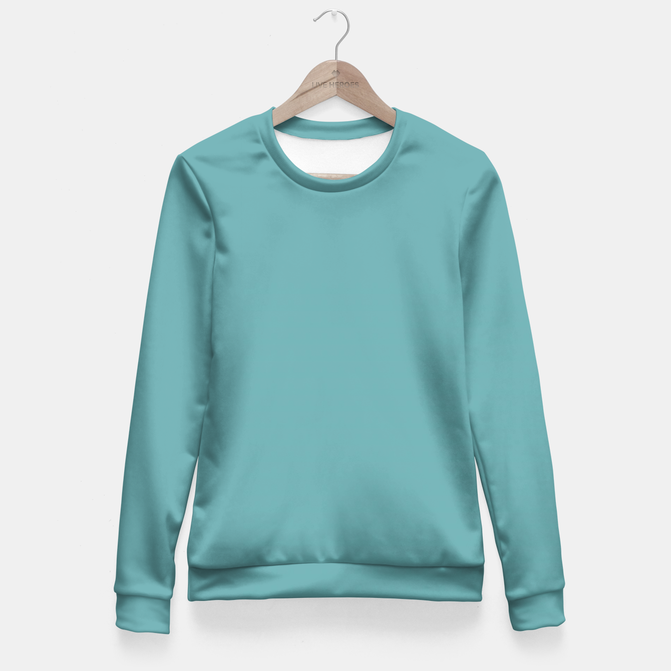 Image of Cadet Blue Colour Fitted Waist Sweater - Live Heroes