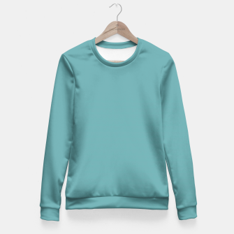 Cadet Blue Colour Fitted Waist Sweater thumbnail image