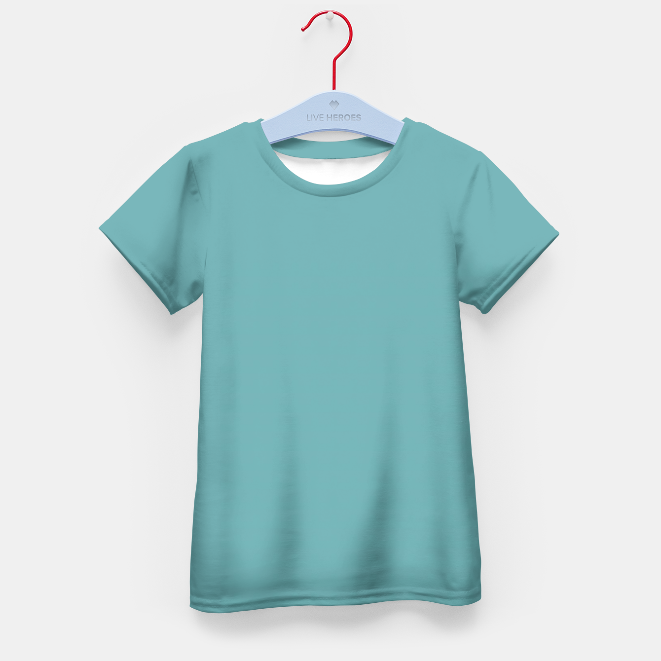 Image of Cadet Blue Colour Kid's T-shirt - Live Heroes