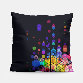 Thumbnail image of Monstrously Colorful Elementary Particles Pillow, Live Heroes