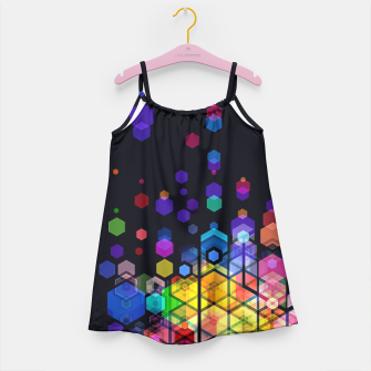 Monstrously Colorful Elementary Particles Girl's Dress miniature