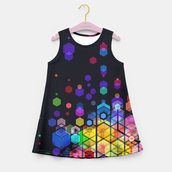 Thumbnail image of Monstrously Colorful Elementary Particles Girl's Summer Dress, Live Heroes