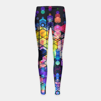 Miniature de image de Monstrously Colorful Elementary Particles Girl's Leggings, Live Heroes