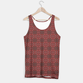 """Thumbnail image of """"Find the rabbit"""" abstract pattern in red tones Tank Top, Live Heroes"""
