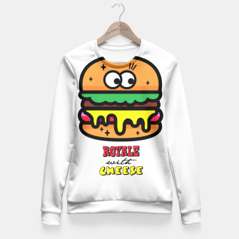 Thumbnail image of Royale with cheese Fitted Waist Sweater, Live Heroes