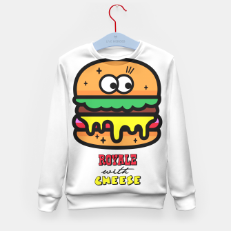 Thumbnail image of Royale with cheese Kid's Sweater, Live Heroes